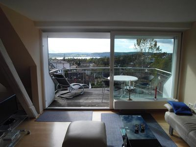 Photo for Haus Sonnenschein in Überlingen with views of Lake Constance and the mountains.
