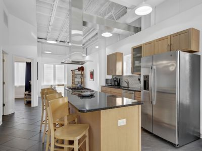 Photo for 8 Forj Lofts - Dog friendly, Fantastic light filled TH, Rooftop sun deck. 3 bed 3 bath close to water park and Junction Breakwater Trail. Off street parking. Sleeps 9.