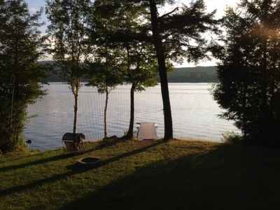 Photo for Family Lakefront vacation destination on beautiful Embden Pond (Lake).