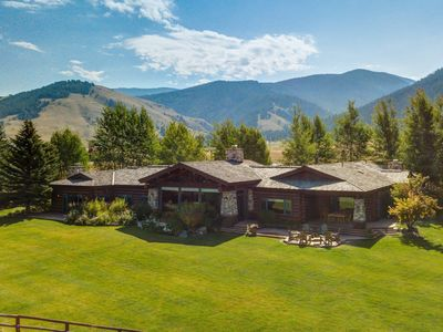 Photo for Luxury Hand-Crafted Elk Refuge Log 5 bedroom Home - 360° Views - Seclusion & Serenity, 10 Minutes from Jackson!