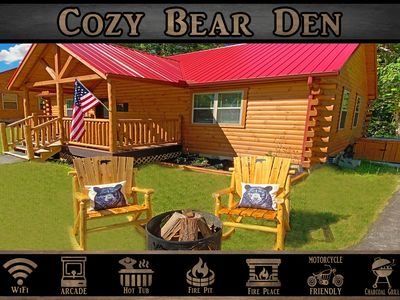 Photo for Cozy Bear Den - WiFi / Arcade Game / Fire Pit / Hot Tub