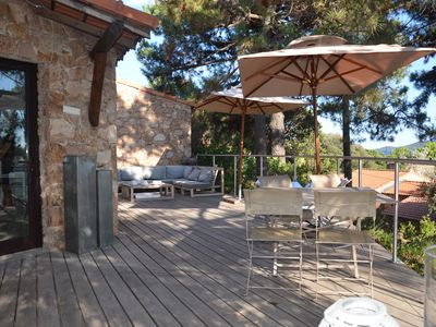 Photo for Character house Seaview, heated 66 m2 + 45 m2 terrace Direct beach