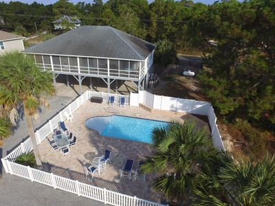 Photo for PRIVATE HEATED POOL, Screen Porch,Great VIews,  Beach Acess Across Street,