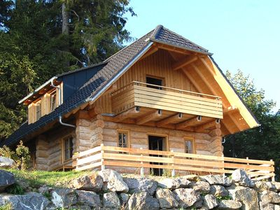 Photo for Canadian log chalets with beautiful mountain panorama, for 1-8 persons