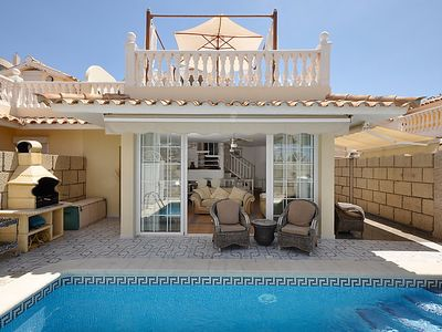 Photo for 3 bedroom Villa, sleeps 8 in Palm-Mar with Pool, Air Con and WiFi