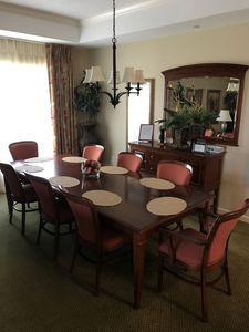 Dining room table, seating for 8