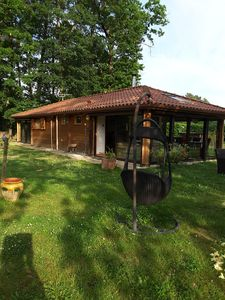 Photo for Wooden house-chalet - Gers - Castelnau d'Auzan 10 kms from Barbotan les Thermes