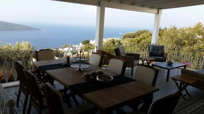 Photo for Sea view villa with green garden and pool in BODRUM YALIKAVAK