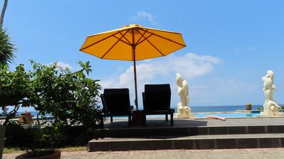 Photo for Beachfront bungalow with pool on Bali