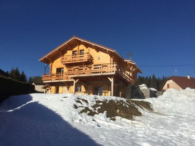 Photo for Chalet 4 * new Jura Morbier les Gentianes