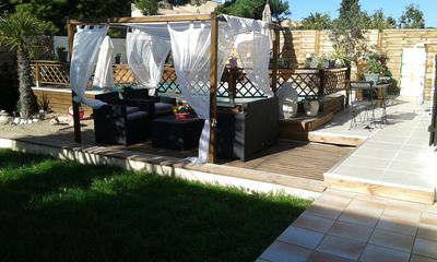 Photo for Villa 120 m² / 4 bedrooms / 7 beds. Garden with protected pool. Agde