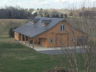 "Photo for The Mockingbird Farm ""Barn-do-minium"" is privately situated on 27 rolling acres."