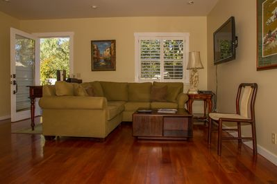 Recently renovated, Brazilian hardwood floors throughout, a comfortable setting