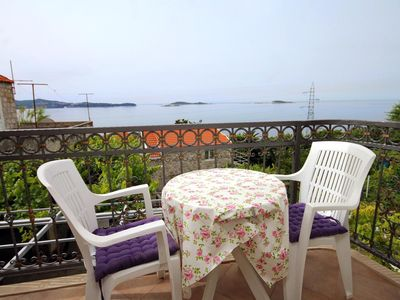 Photo for One bedroom apartment with balcony and sea view Mlini (Dubrovnik)