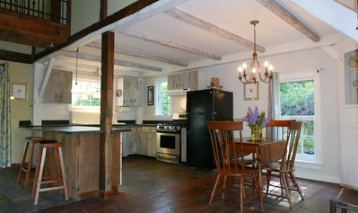Photo for Antique timber frame house located in the heart of the White Mountains!