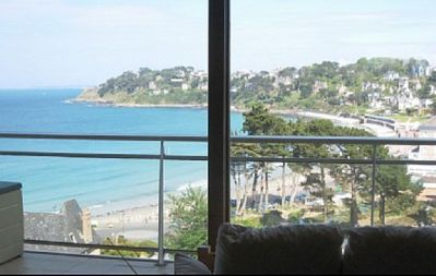 Photo for PERROS-GUIREC BEAUTIFUL APARTMENT WITH PANORAMIC VIEW ON THE BEACH