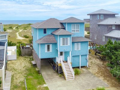 Photo for Castle on the Beach - Stunning 5 Bedroom Oceanfront Home in Salvo