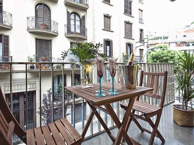 Photo for Apartment Barcelona Rentals - Private terrace apartment in the centre for 4 pax