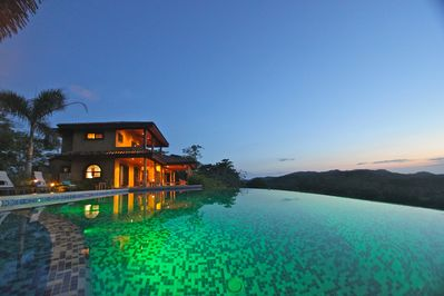 View of 4 bedroom house from infinity pool