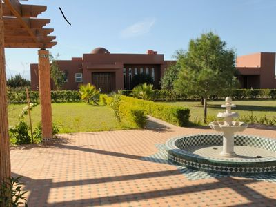 Photo for Detached villa with private pool - 20 km from Marrakech Route de l'Ourika