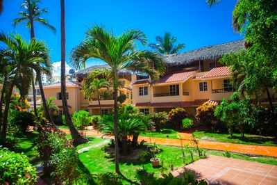 This beautiful residential complex is just a few steps from the beach.