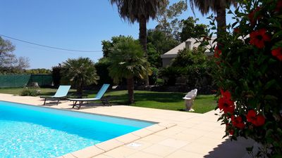 Photo for Cottage with Corsican citrus flavors, swimming pool