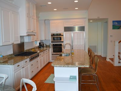 open kitchen with top of the line appliances