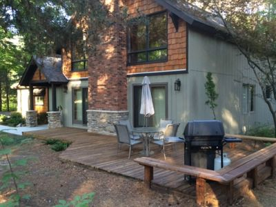 Photo for Elegant lodge near Crystal Mountain w/ foosball, private deck, & gas grill!