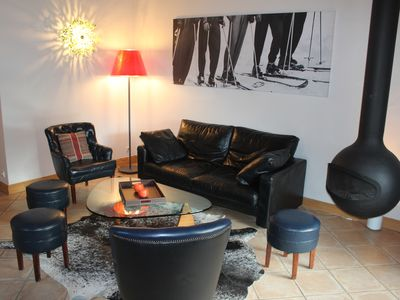 Photo for THE PASTURES OF CHAMPAGNY BEAUTIFUL APARTMENT 70M2, FIREPLACE, TERRACE, POOL