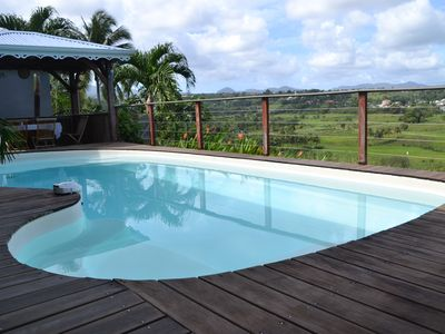 Photo for New apartment adjoining our Creole villa with exceptional 180 ° views.