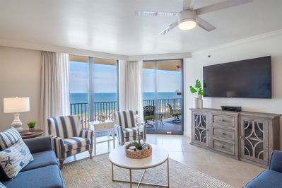 Living Room With Great Views of Beach