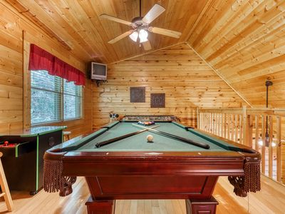 Photo for Split-level log cabin w/ game room, & hot tub - shared seasonal pool access!