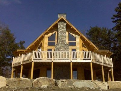 Photo for Private Log Home with Beautiful views of Moosehead Lake and Mountains