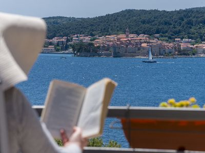Photo for Dominika´s Apartment with magnificent view to Korčula Old town