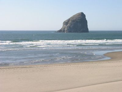 Haystack Rock in Pacific City.