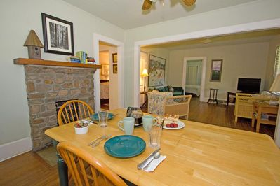 Great open living & dining room,just right for a romantic dinner or family games