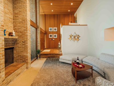 Photo for Architectural, Mid-Century Pad with an Atrium Living Space