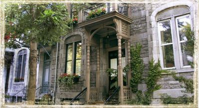 Grey stone Victorian with original Gingerbread woodwork