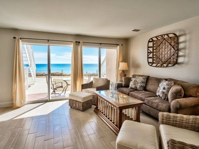 Photo for Gulf Front Renovated Ground Floor Condo with Amazing Views - Blue Tide 7A
