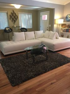 New white leather sectional sofa