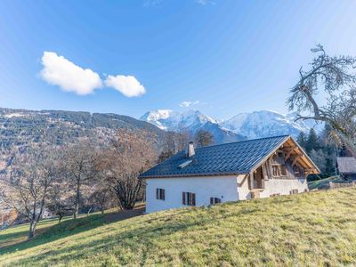 Photo for Large renovated farmhouse facing Mont Blanc and on the slopes