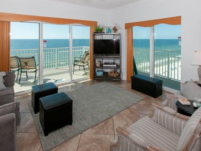 Photo for 3/3, Sleeps 8, Gulf-Front, Balcony, Pool, Hot Tub, Free Daily Activities - Crystal Shores West 608