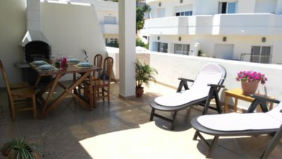 Photo for Ideal luxury townhouse next to the beach, indoor pool, big terraces to seaside
