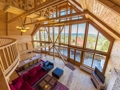 Photo for Spectacular ski chalet in Bran, by Dracula's Castle, Carpathian Log Home 2!