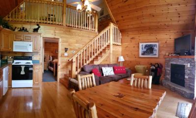 Photo for New Cozy Cabin in Black Bear Falls with view-easy 5 min to downtown  Gatlinburg!