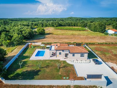 Photo for Newbuild Villa Vitis Vitae ***** 1.400m2 garden area ,Central Istria