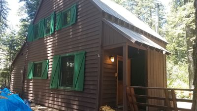 Photo for Pet friendly- Westshore cabin walking distance to BEACH and private pier.