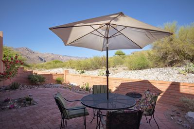 Patio with view of Catalina Mountains