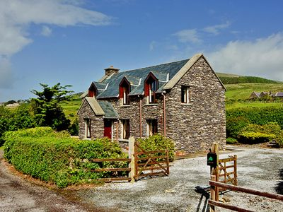 Photo for Detached stone cottage, in traditional style, enjoying stunning far reaching views across Ball…