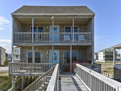 Photo for POPULAR OCEANFRONT W/GREAT VIEWS, 4 BEDROOMS, HOT TUB, WIFI AND DUNE-TOP DECK